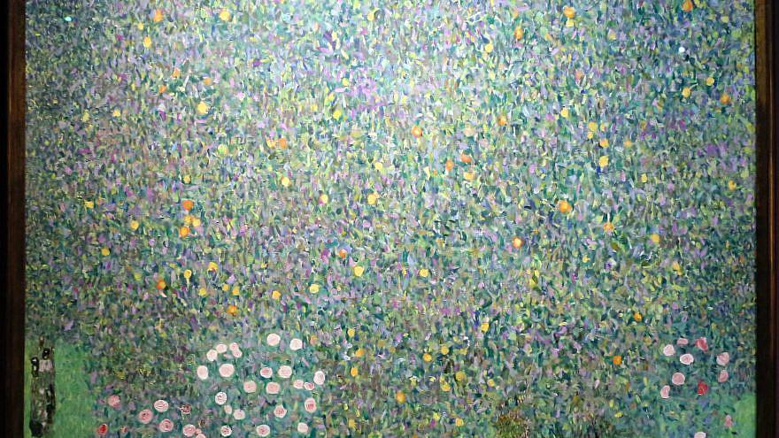 "Gustav Klimt's ""Rosiers sous les arbres"" (""Roses Under the Trees""). Credit: Wikimedia Commons."