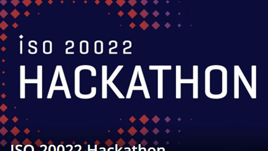 Promo for the BIS/SWIFT ISO 20022 Hackathon. Source: ISO20022hackathon.hackerearth.com