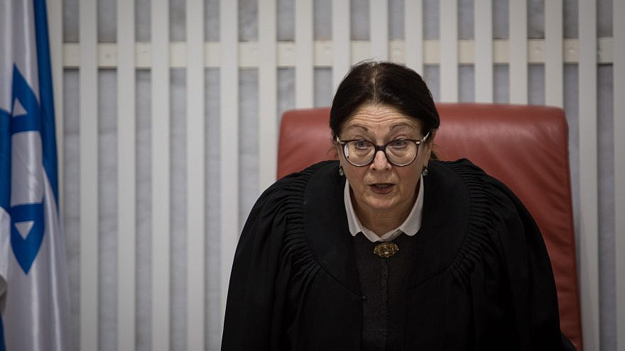 Esther Hayut, president of Israel's Highest Court, the Supreme Court, March 14, 2019. Photo by Hadas Parush/Flash90.