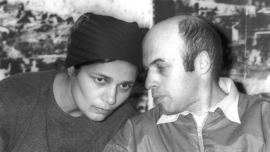 Natan Sharansky, released by the Soviet Union in an exchange of prisoners by the U.S. authorities, with his wife, Avital, at Ben-Gurion International Airport in Israel, 1986. Photo by Israel Simionsky, Dan Hadani Archive, Pritzker Family National Photography Collection, National Library of Israel.