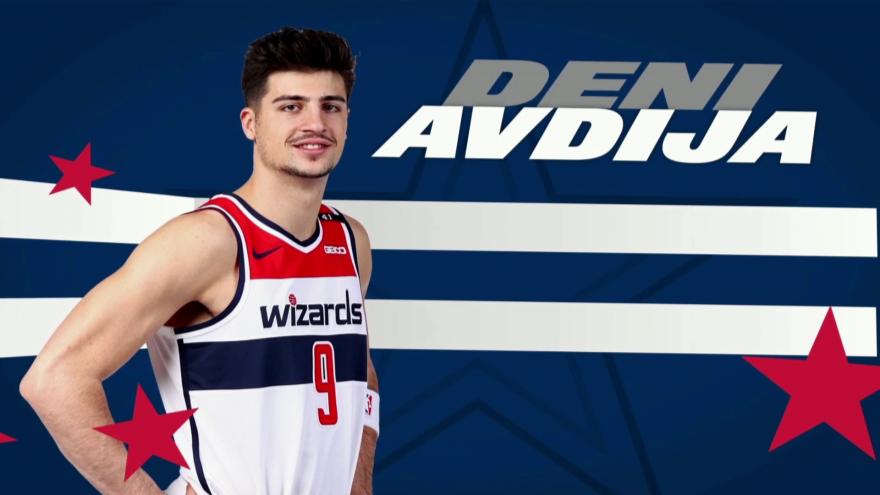Deni Avdija of the Washington Wizards. Source: Screenshot.