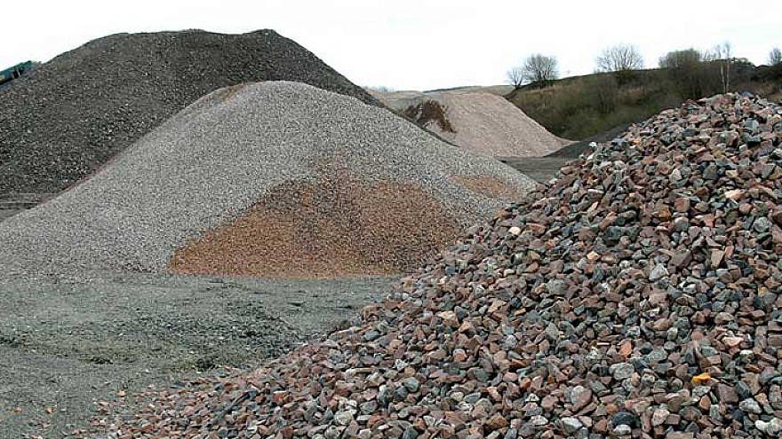 Construction aggregates. Credit: Wikipedia.