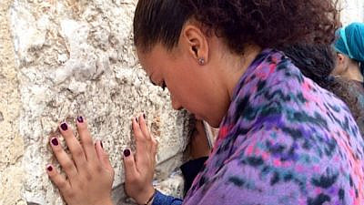 Rosalyn Gold-Onwude at the Western Wall in Jerusalem. Source: Instagram.