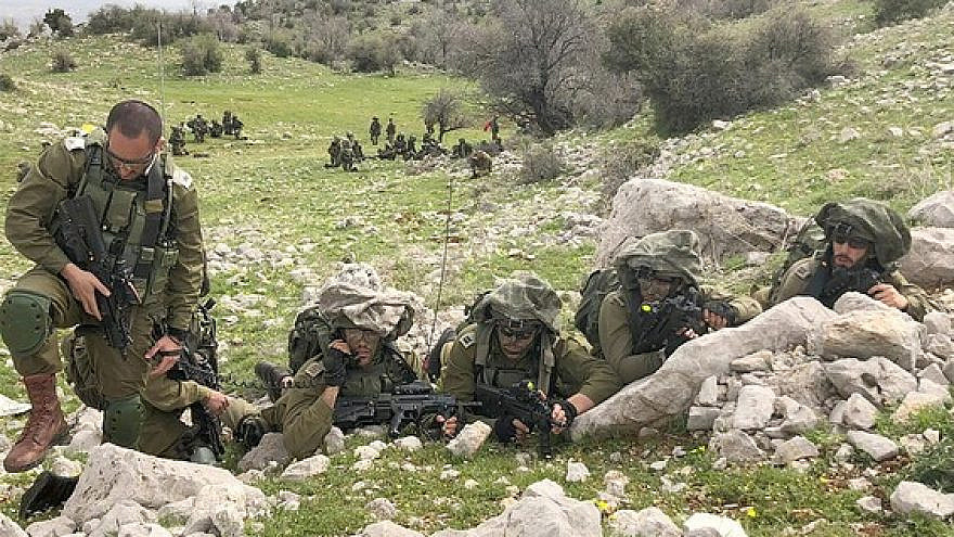 Israel Defense Forces troops during one of many exercises in the north of the country. Credit: IDF Spokesperson's Unit.