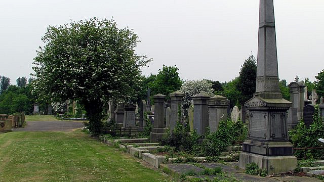 A view of Belfast City Cemetery. Credit: Wikimedia Commons.
