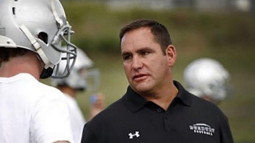 Duxbury High School football coach Dave Maimaron was fired 12 days after the game. Source: Twitter.