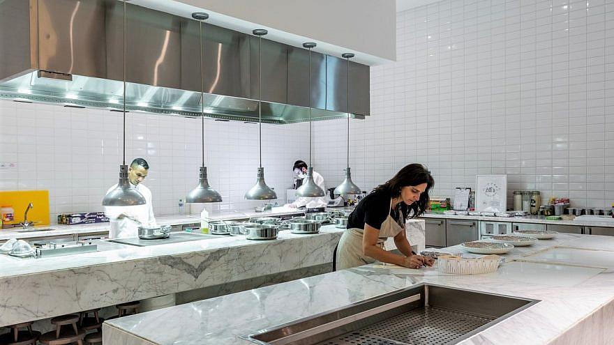 Chef Elli Kriel at work in her kosher kitchen in the United Arab Emirates. Credit: Courtesy.
