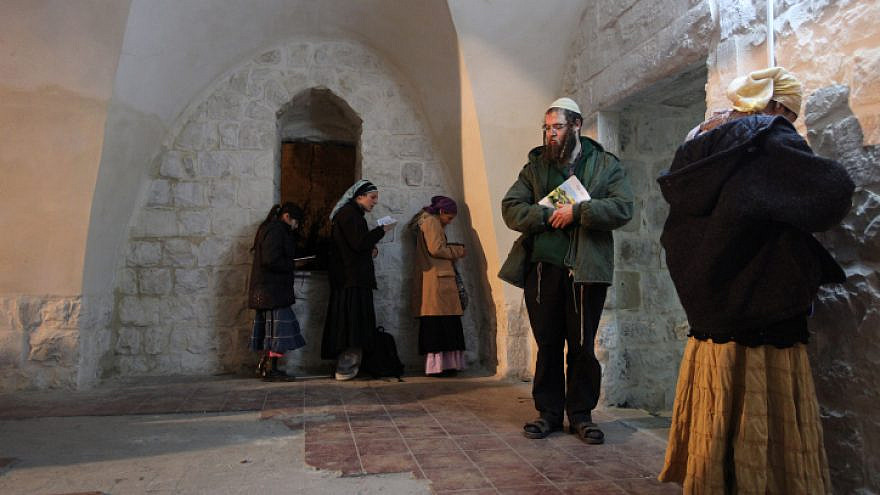 Jews pray in the compound in Nablus of Joseph's Tomb, believed to be the final resting place of the biblical patriarch, Dec. 28, 2010. Photo by Kobi Gideon/Flash90.