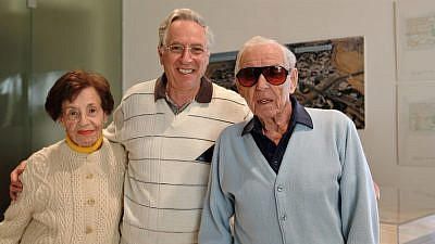 Philip Gomperts (center) with Lottie and Howard Marcus, who donated $400 million to Ben-Gurion University of the Negev. Credit: American Associates, Ben-Gurion University of the Negev.