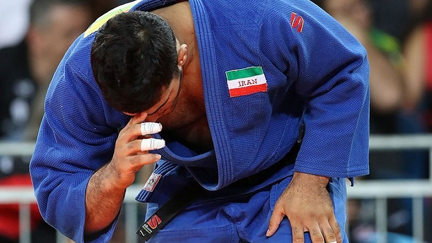 An Iranian judo player at the 2016 Summer Olympics. Credit: Wikimedia Commons.