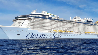 Royal Caribbean's new Odyssey of the Seas cruise ship, April 2021. Source: Screenshot.