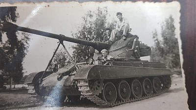 Chaim Luviner serving in the IDF's Armored Corps. Credit: Courtesy.