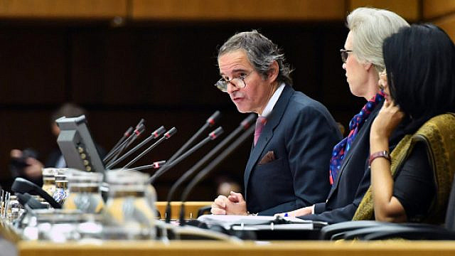 International Atomic Energy Agency Director General Rafael Mariano Grossi delivers his opening remarks to the IAEA Board of Governors meeting on March 9, 2020. Photo: D. Calma/IAEA.
