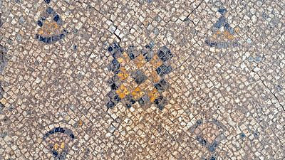 The mosaic flooring, unearthed in 2021 in Yavne, will go on display at the city's cultural center. Credit: Israel Antiquities Authority.