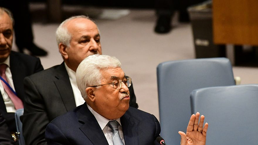 Palestinian Authority leader Mahmoud Abbas at the United Nations in 2018. Credit: A. Katz/Shutterstock.