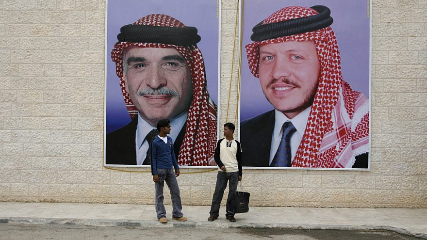 Portraits of the late King Hussein of Jordan (left) and his son, King Abdullah. Credit: amnat30/Shutterstock.