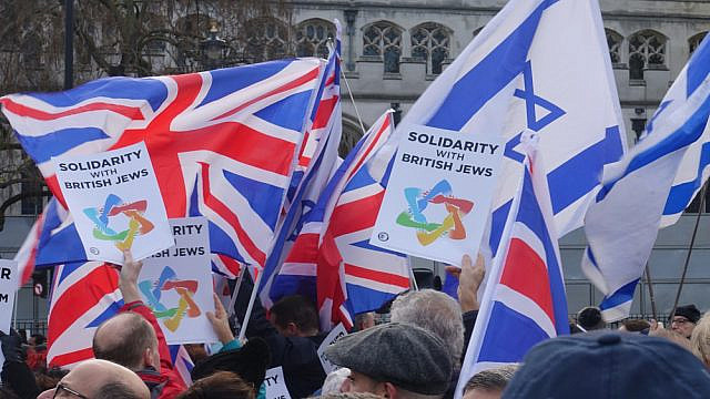 A rally against anti-Semitism in London in December 2019. Credit: Brian Minkoff/Shutterstock.
