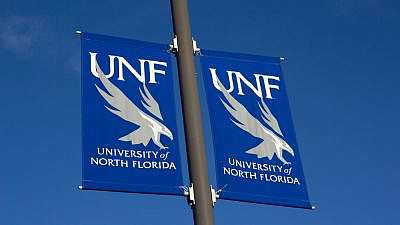 University of North Florida banner. Credit: Rob Wilson/Shutterstock.