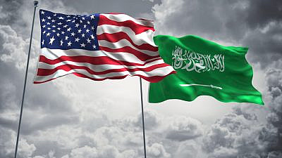 U.S. and Saudi flags. Credit: FreshStock/Shutterstock.