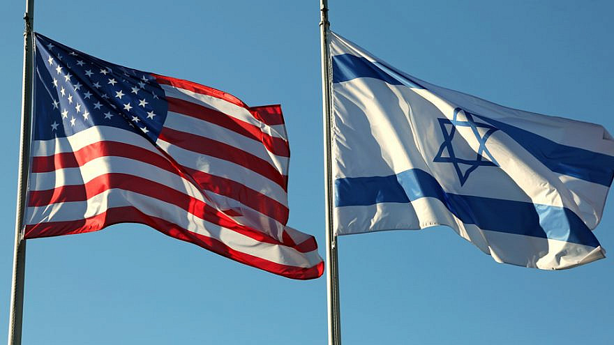 American and Israeli flags. Credit: ChiccoDodiFC/Shutterstock.