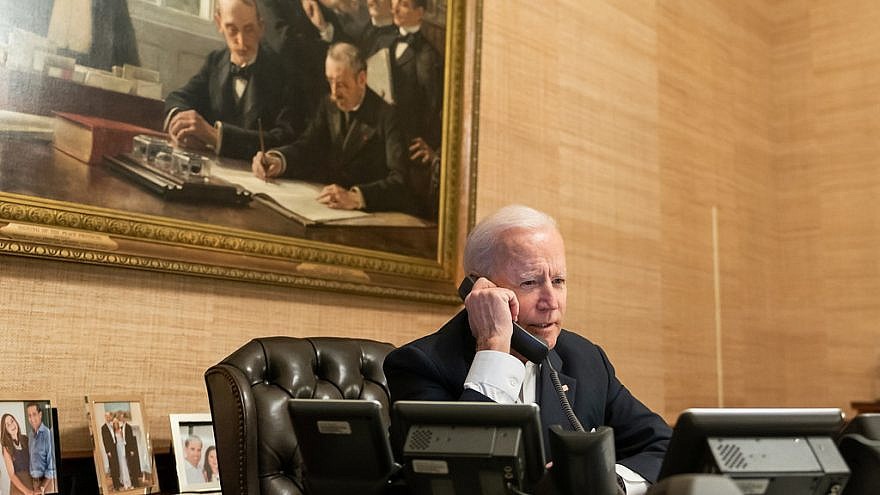 U.S. President Joe Biden in the Treaty Room of the White House, Feb. 18, 2021. Credit: Official White House photo by Adam Schultz.