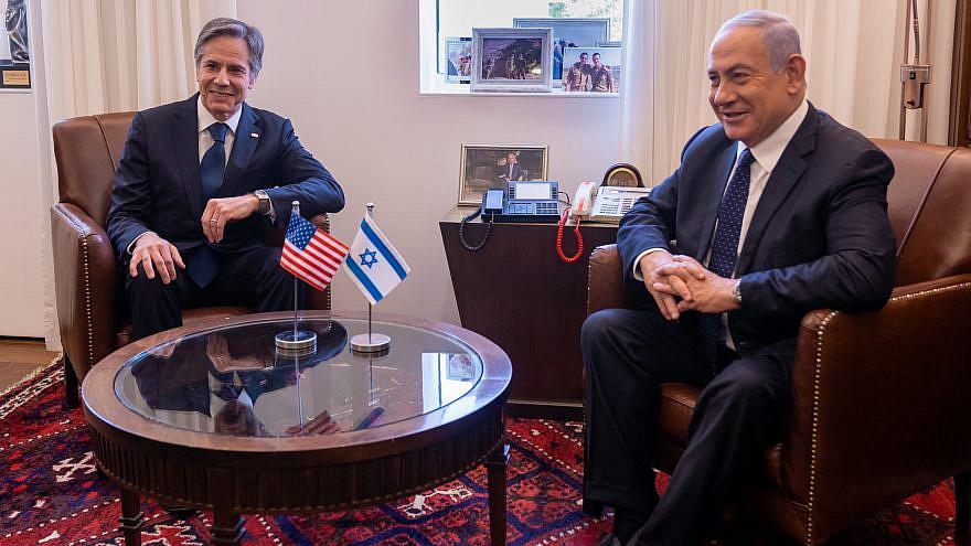 U.S. Secretary of State Antony Blinken meets with Israeli Prime Minister Benjamin Netanyahu in Jerusalem on May 25, 2021. Credit: State Department Photo by Ron Przysucha.