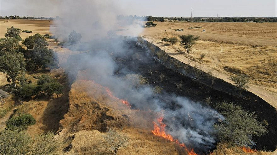 Incendiary devices launched from the Gaza Strip into Israeli communities along the border resumed on May 4, 2021. Credit: JNF.