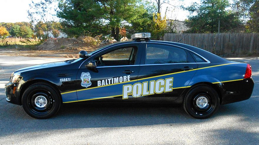 A Baltimore police cruiser. Credit: Wikimedia Commons.