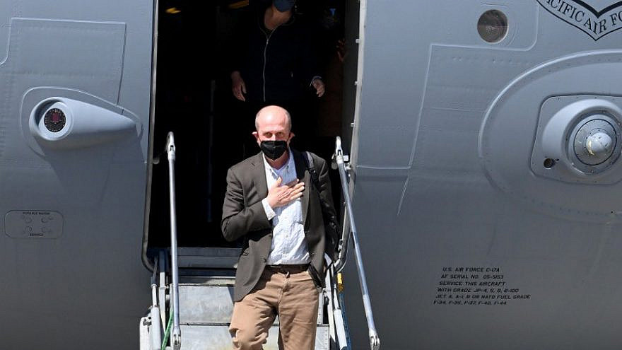 U.S. Deputy Assistant Secretary for Israel and Palestinian Affairs Hady Amr arriving in Israel on May 14, 2021. Source: U.S. Embassy Jerusalem/Twitter.