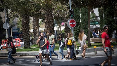 Tel Aviv, April 21, 2021. Photo by Miriam Alster/Flash90.