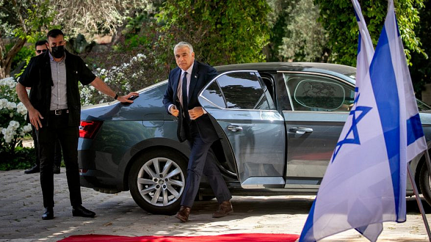 Head of the Yesh Atid Party Yair Lapid in Jerusalem on May 5, 2021. Photo by Olivier Fitoussi/Flash90.