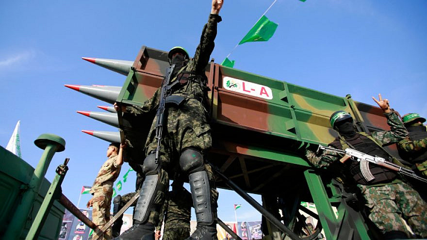 Members of Hamas attend a rally in Beit Lahiya on May 30, 2021. Photo by Atia Mohammed/Flash90.