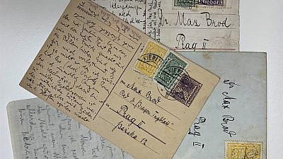 Postcard from Franz Kafka to Max Brod. Credit: Literary estate of Max Brod/The National Library of Israel.