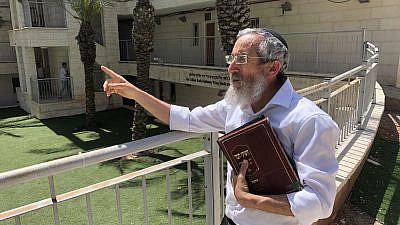 Sderot Hesder Yeshiva head Rabbi David Fendel on May 12, 2021. Photo by Josh Hasten.