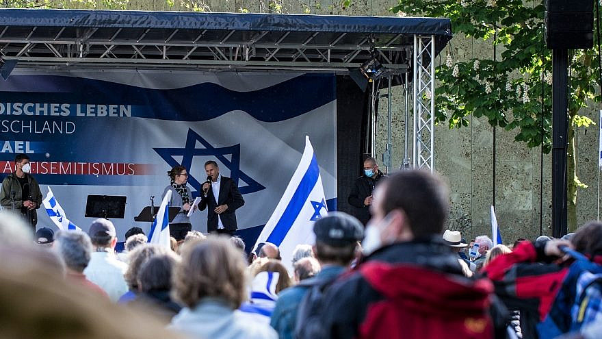 Christians from across Germany gathered with Jewish leaders to voice their support for Israel, May 2021. Photo by Levi Dörflinger/ICEJ.