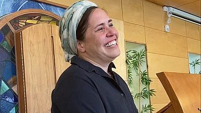 Shira Marili Mirvis, the first-ever Israeli woman appointed to be sole rabbinic leader of an Orthodox synagogue. Source: Screenshot.