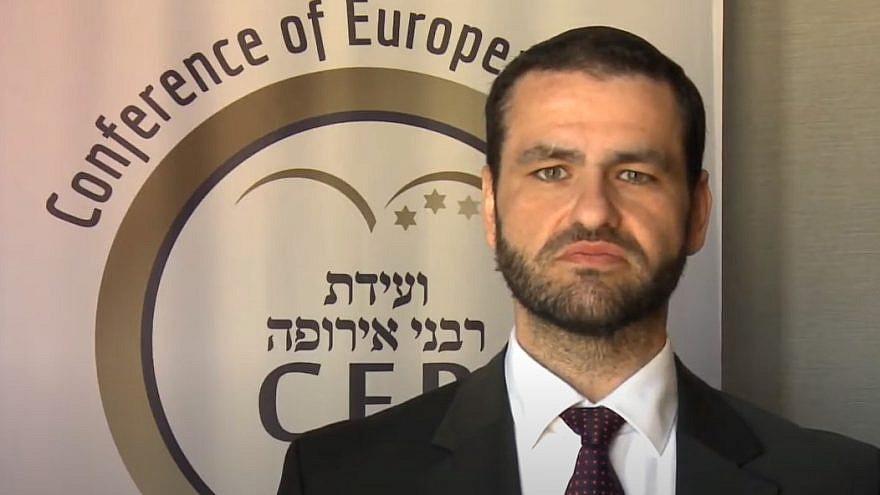 Rabbi Zsolt Balla. Source: Screenshot.