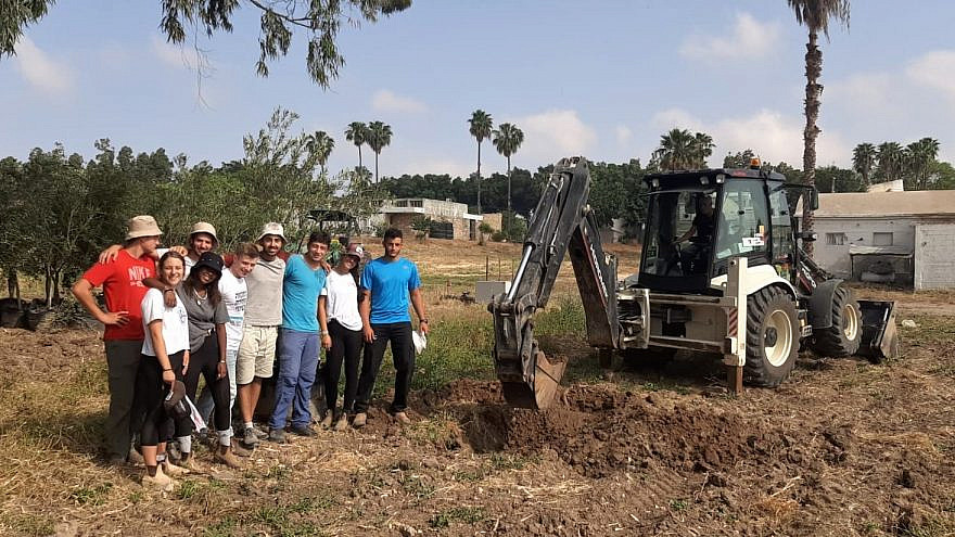 Tree-planting at the Kfar Silver Youth Village in Israel in memory of Sarah Halimi, May 2021. Credit: Courtesy.