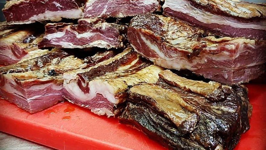 Asado beef B(F)acon at Harvey's Burger Shack. Credit: Courtesy.