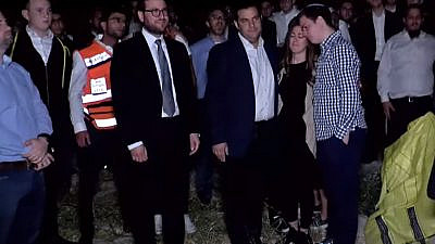 The family of Danny Morris attends his burial on Sunday in Jerusalem. Source: Screenshot.