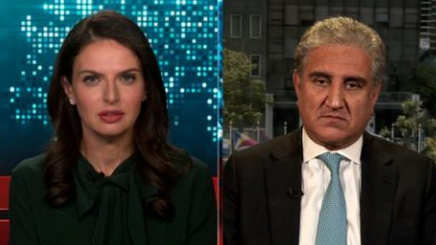 Pakistan's Foreign Minister Shah Mahmood Qureshi appearing on CNN on May 20, 2021. Source: Screenshot.