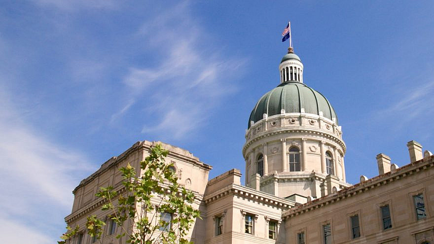 The Indiana state capitol building. Credit: SJ Harris/Shutterstock.