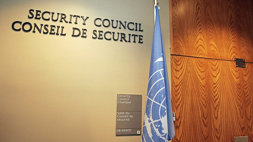 The U.N. Security Council at the United Nations headquarters in New York City. Credit: Christian Thiel.net/Shutterstock.