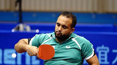 Table-tennis player Osama Abu Jame of Jordan. Source: Facebook/Jordanian Paralympic Committee.
