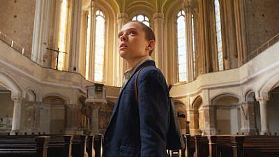 "Israeli actress Shira Haas, playing Esty Shapiro in the award-winning series ""Unorthodox."" Credit: Netflix."