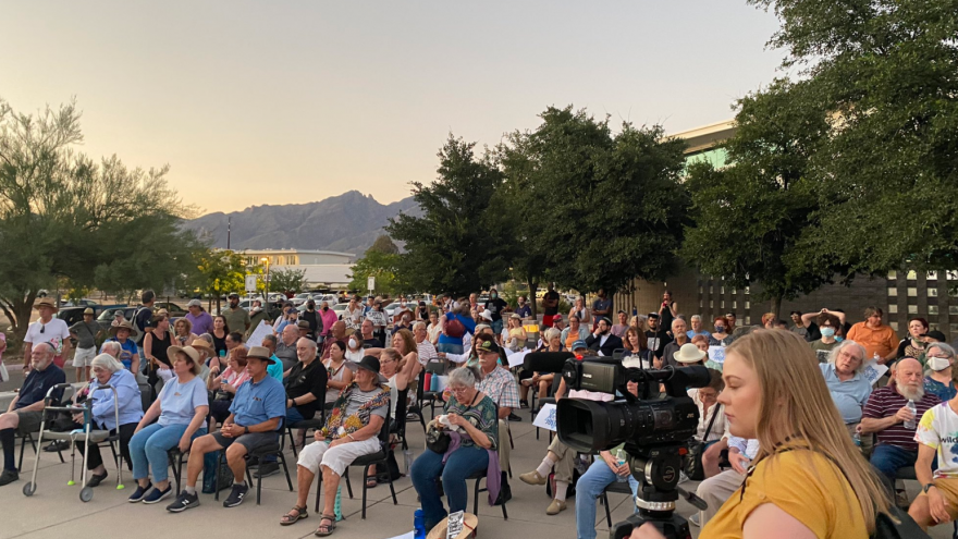 Hundreds of Jews in Tucson, Ariz., gathered to express their concern over the recent rise in anti-Semitism across the country and around the world, June 13, 2021. Source: Regina Romero/Twitter.