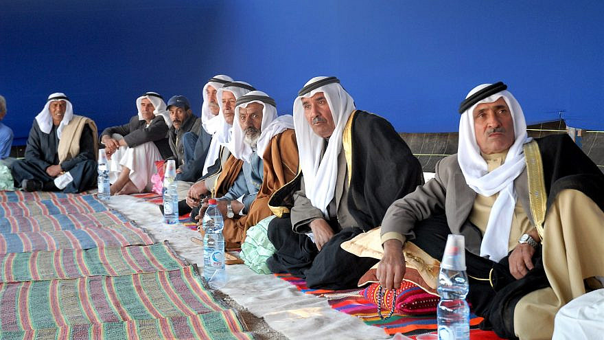 Notable Bedouin of the Abu Basma Regional Council in southern Israel, near the city of Dimona. Credit: Moshe Milner/GPO.