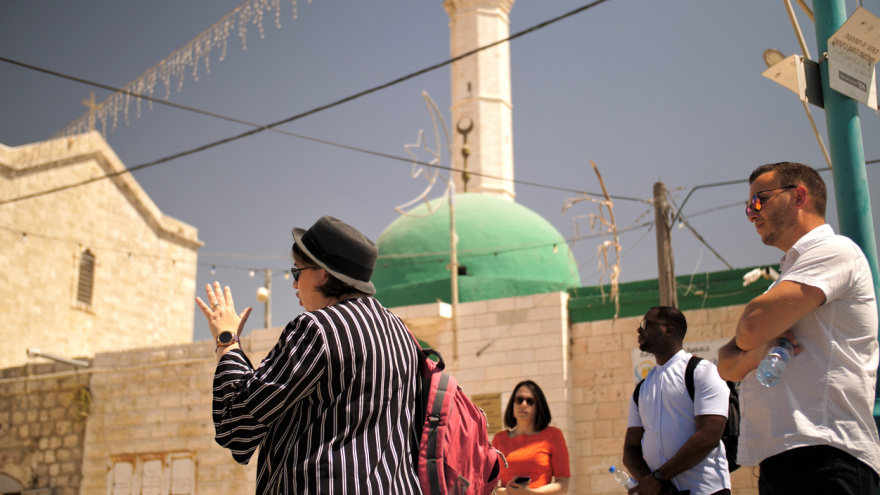Christian American students tour Israel with the Passages program, visiting cities throughout the Jewish state, June 2021. Credit: Cade Chudy.