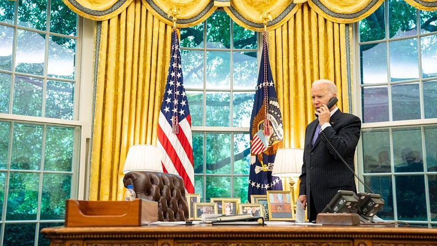 U.S. President Joe Biden in the Oval Office. Credit: Joe Biden/Twitter.
