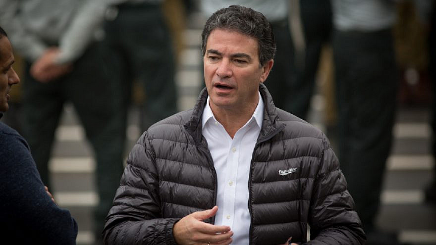 Mossad director Yossi Cohen attends a ceremony for the appointment of the new chief of Military Intelligence at Glilot military base near Tel Aviv, March 28, 2018. Photo by Miriam Alster/Flash90.